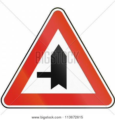 Road Sign Used In Slovakia - Intersection With Priority