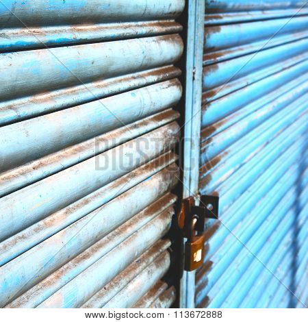 Blue Abstract Metal In Englan London Railing Steel And Background