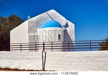 the Orthodox chapel on the island of Kos