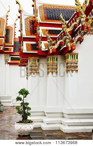 Decorative Elements Of A Buddhist Temple