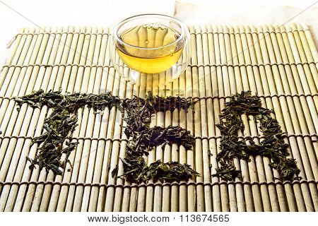 Word Tea from chinese green tea
