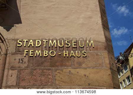 NUREMBERG, GERMANY - AUGUST 23, 2015: The large late Renaissance merchant's house called Fembohaus is the municipal museum of Nuremberg
