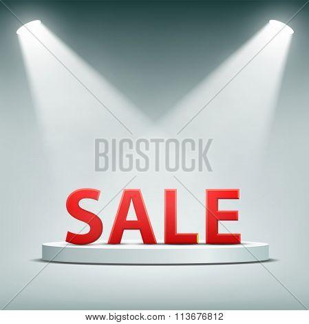Word Sale. Stock Illustration.