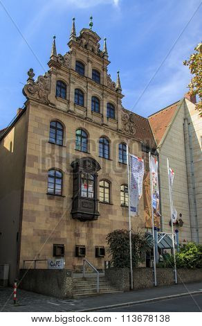 NUREMBERG, GERMANY - AUGUST 23, 2015: The Nuremberg Toy Museum is located in the inner city and was founded in 1971