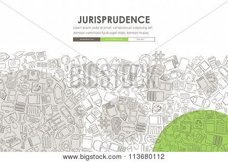 jurisprudence Doodle Website Template Design
