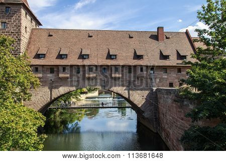 Bridge Kettensteg In Nuremberg, Germany, 2015