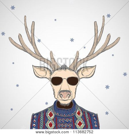 Deer In Sweater