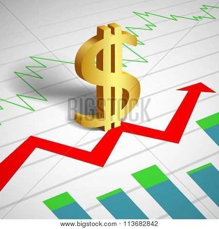 Currency Rate. Stock Illustration.