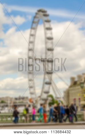 London Defocused Background. Intentionally Blurred Post Production