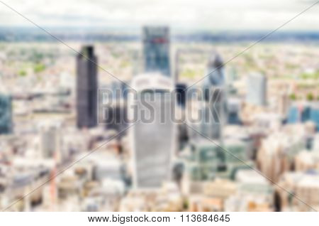 Defocused Background Of The London Skyline. Intentionally Blurred Post Production