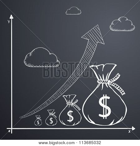 Financial Charts. Stock Illustration.