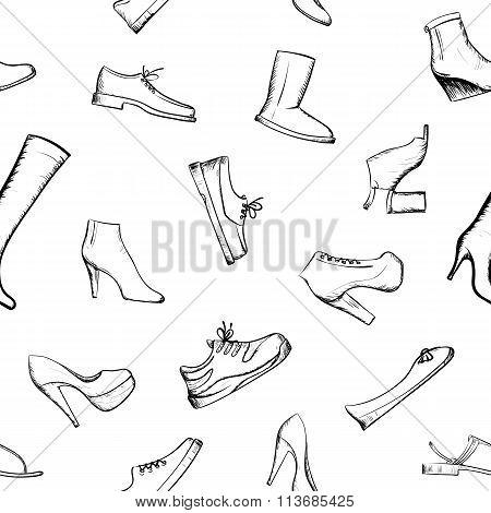 Doodle Footwear. Stock Illustration.