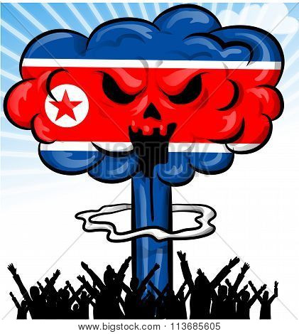Bomb On North Korea Flag