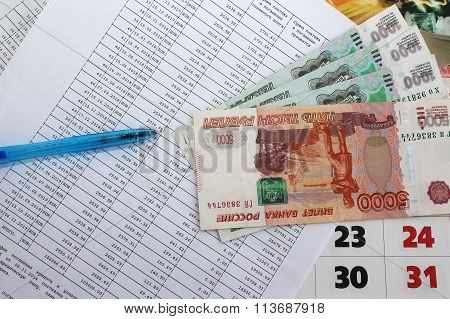 Schedule of payment of the loan and the money