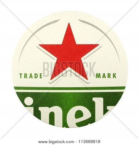 Heineken Beer Mat.