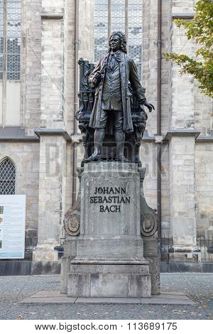 Monument To Johann Sebastian Bach In Leipzig
