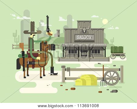 Wild west saloon