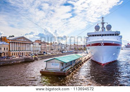 Cruise Ship At The Pier In St. Petersburg