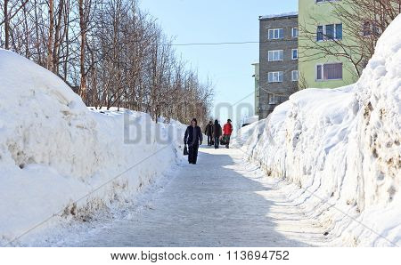 Big Snowdrifts On The Streets