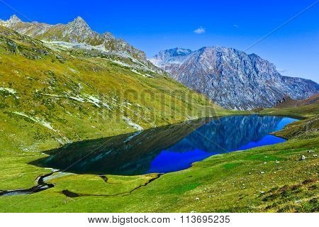 Big Mountain Lake Kyafar, Caucasia, Russia