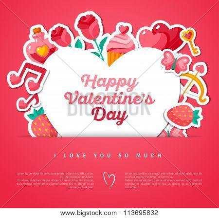Valentine Banner with Heart Shape Frame