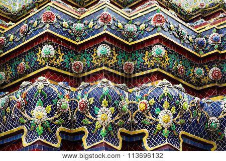 Ceramic Decor Of A Buddhist Temple