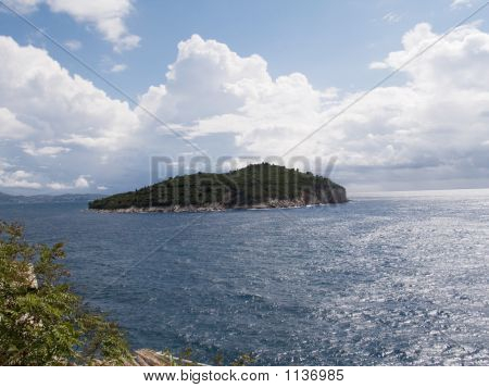 Lokrum Island Off The Coast Of Dubrovnik