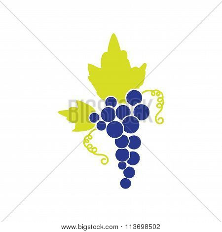 Flat web icon on white background bunch of grapes