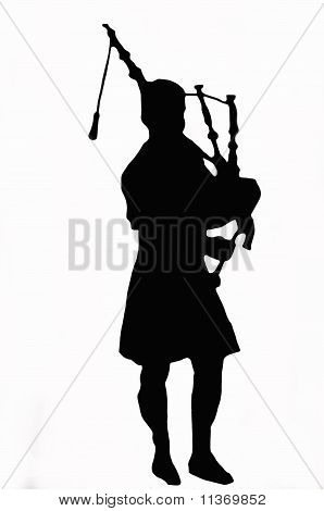 Bagpipes Against White Background