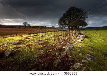 Approaching storm over Brecon, South Wales UK