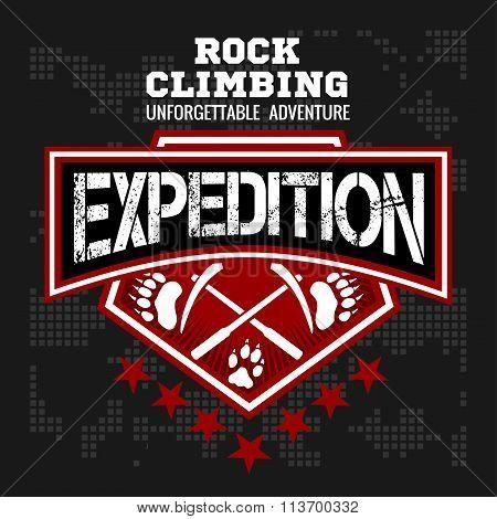 Expedition. Mountain climbing. Climber.