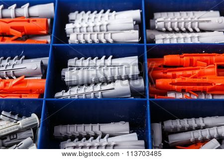 Set Of Dowels In The Box