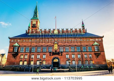 Copenhagen, Denmark - January 3, 2015: Copenhagen City Hall Is The Headquarters Of The Municipal Cou
