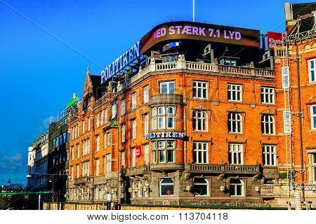 Copenhagen, Denmark - January 3, 2015: Old Part Of Town In Copenhagen, Denmark