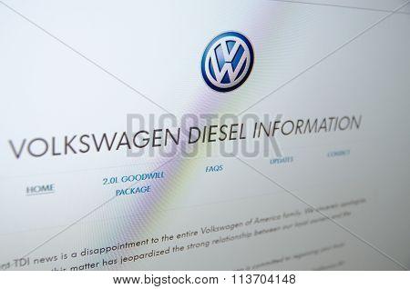 Volkswagen diesel information