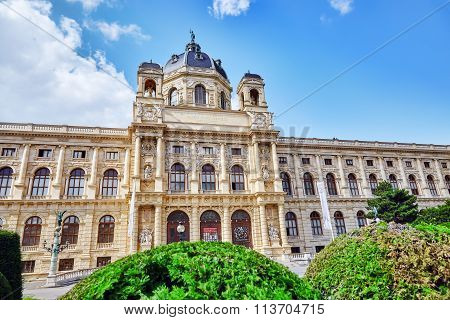 Vienna, Austria- September 10, 2015: Maria Theresa Square.arts And History Museum Kunsthistorisches