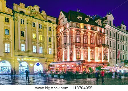 Prague,czech Republic- September 12, 2015: Old Town Square(staromestske Namesti)on Historic Square I