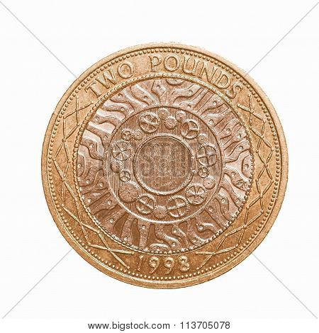 Pound Coin - 2 Pounds Vintage