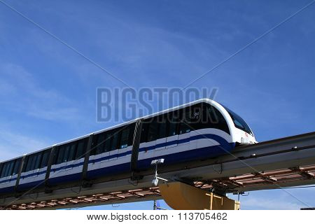 Monorail road in Moscow. Russia