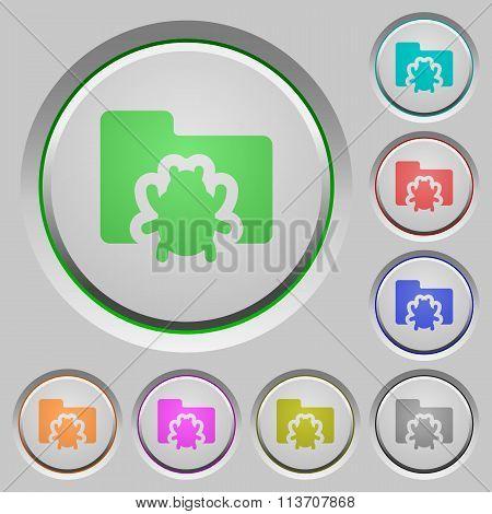 Bug Folder Push Buttons