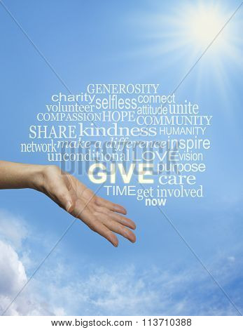 Bring sunshine into the lives of others by giving