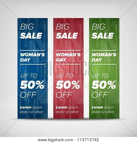 Big sale vertical banners