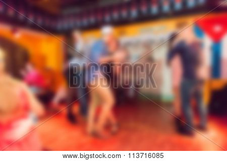 Party at the bar theme blur background