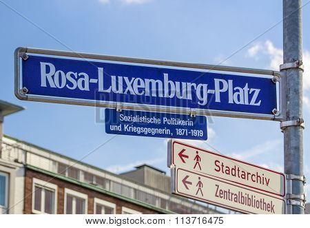 Rosa Luxemburg Square In Nuremberg, Germany, 2015