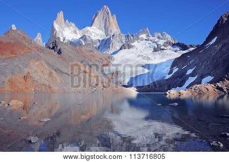 Amazing sunrise by Fitz Roy mountain.