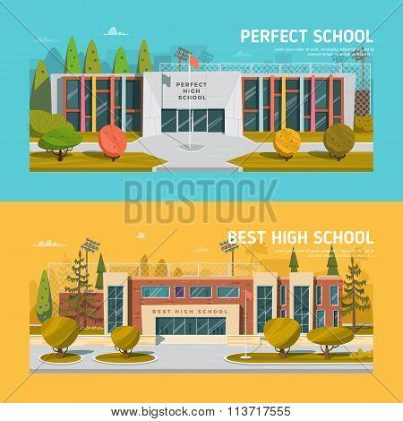 Educate theme vector collection