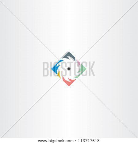 Colorful Sawmill Logo Icon
