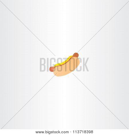 Hot Dog Vector Icon Logo