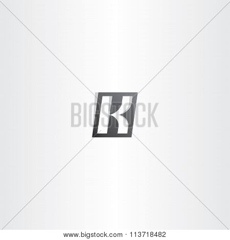 Letter K Black Vector Gradient Logo