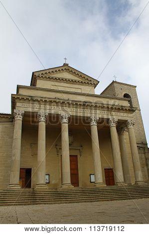 Basilica of San Marino. The Republic of San Marino